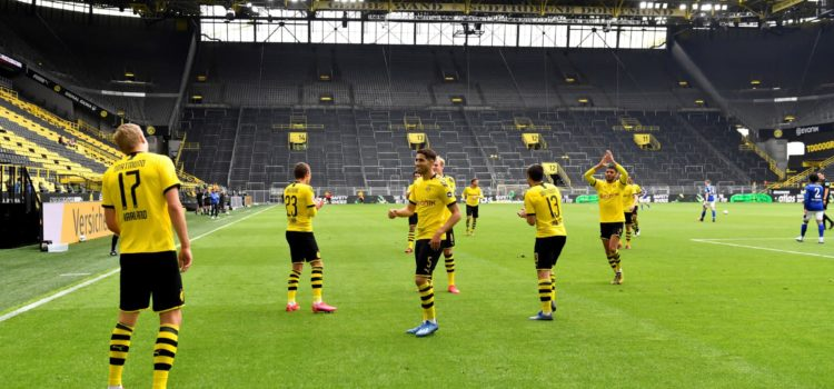 Haaland celebrando gol Borussia Dortmund