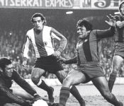 Hugo Sotil con el FC Barcelona