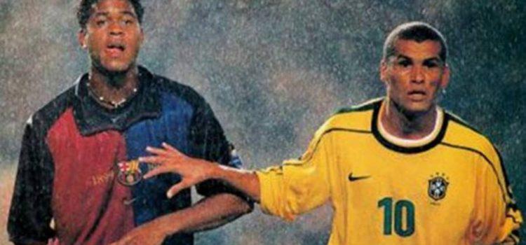Barcelona - Brasil Kluivert y Rivaldo