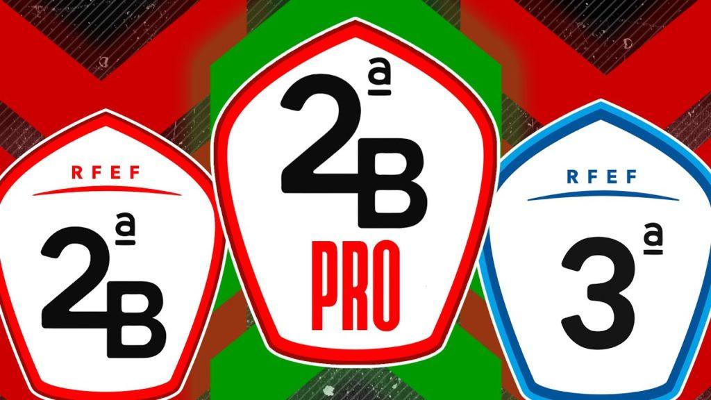 """Escudos de la """"2a B Pro"""", """"2a B"""" y """"3a división"""" españolas"""