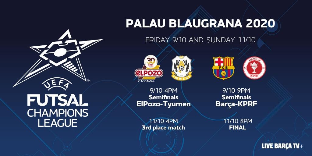 Semifinales UEFA Futsal Champions League 2020.