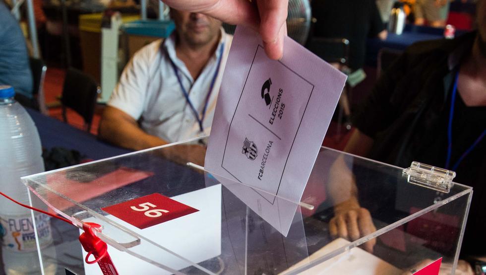 Uso de voto en las elecciones para la presidencia azulgrana del 18 de julio de 2015.