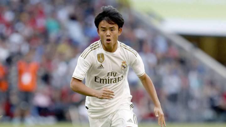 Takefusa Kubo en la gira asiática 2019/20 con el Real Madrid. Fuente: AS