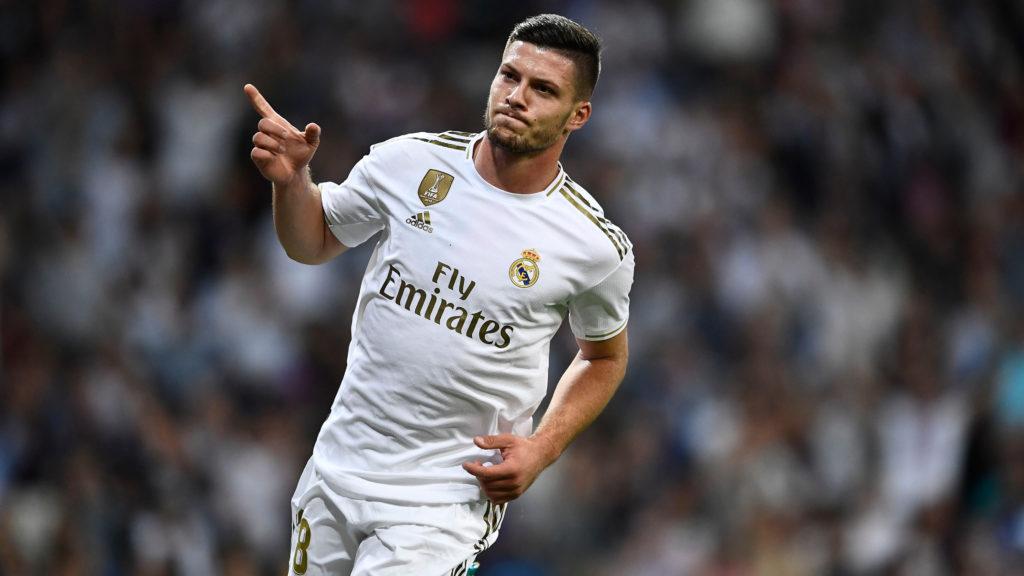 Luka Jović celebrando su primer gol con el Real Madrid ante el Leganés. Fuente: Goal