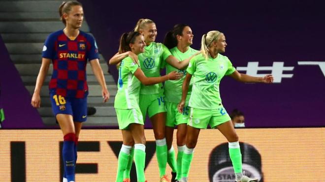 Semifinales de Champions de la temporada 2019/2020, donde el Wolfsburgo eliminó al Barça femenino. Fuente: EFE