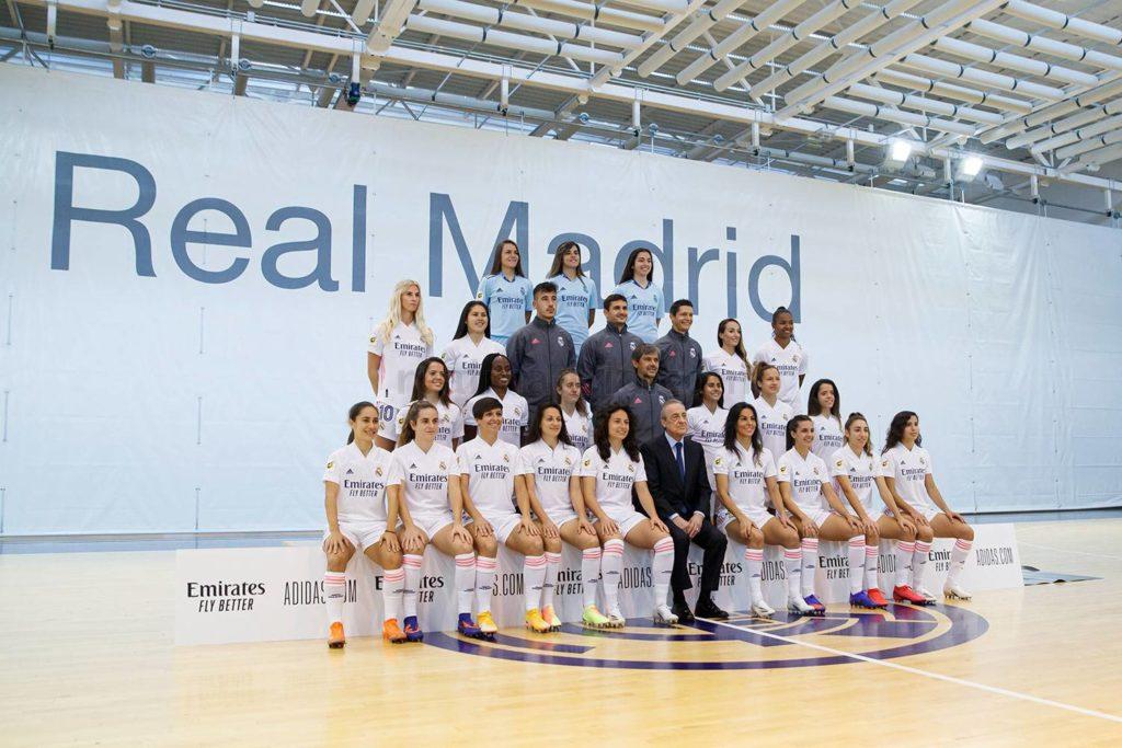 Plantilla del primer equipo del Real Madrid Club de Fútbol Femenino. Fuente: Real Madrid