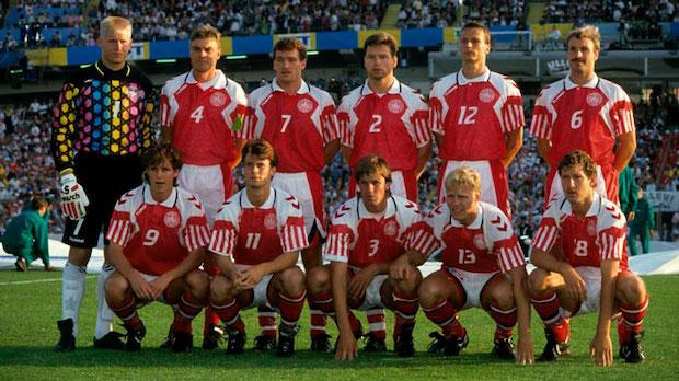 Alineación de Dinamarca en la Eurocopa del 1992. Fuente: Number1Sport
