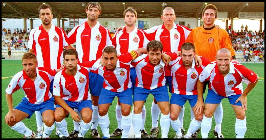 11 titular del Girona en el último partido correspondiente a la temporada 2007-2008, en la que se consiguió el ascenso a Segunda División. Fuente: Equiposdefutbol