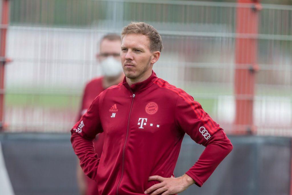 El técnico alemán durante un entrenamiento del FC Bayern. Fuente: Getty Images