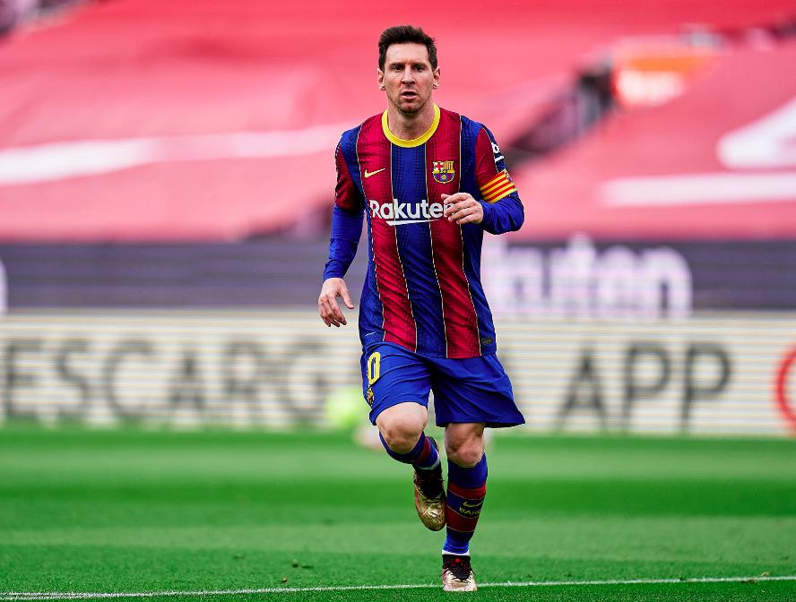 Leo Messi durante un partido de Liga. Fuente: FCBarcelona