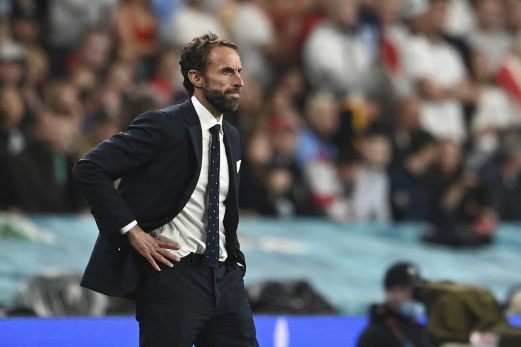 Southgate con el semblante serio en la final de la Eurocopa frente a Italia. Fuente: EFE